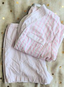 Vintage Striped Cotton Pajamas